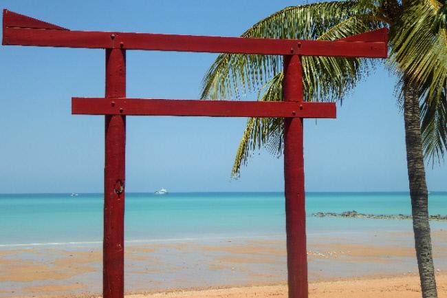 Torii Gate, Town Beach